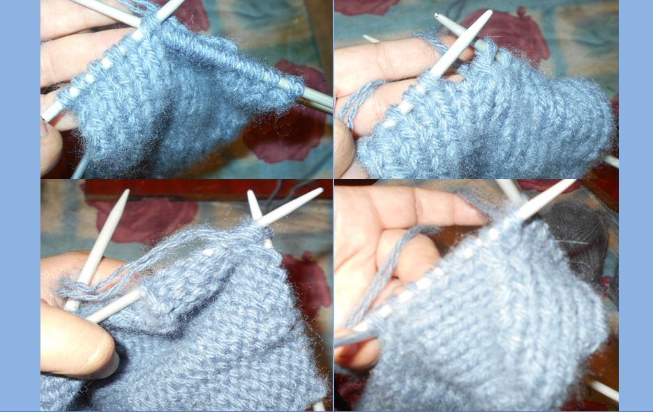 формирование пятки при вязании носок