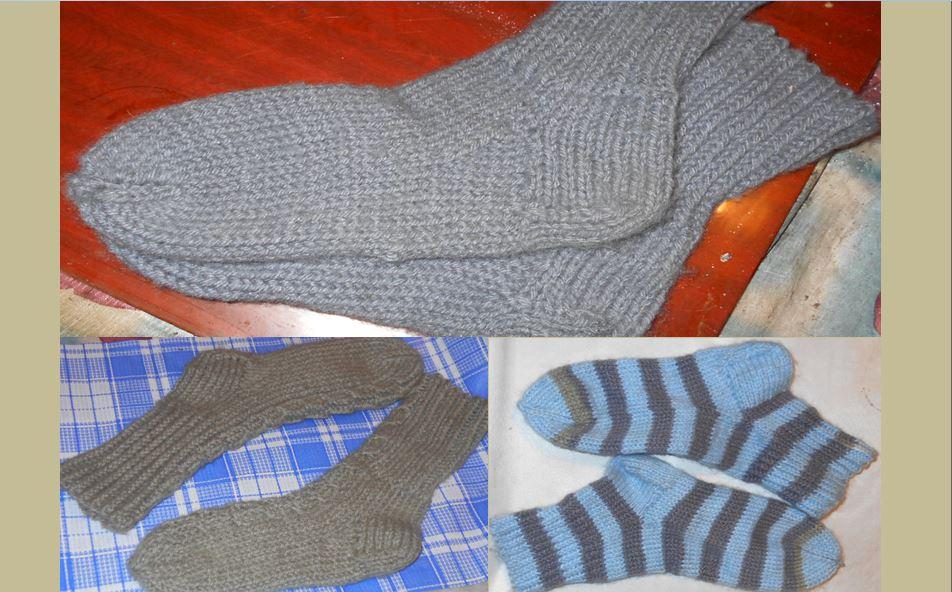 модели вязанных носок