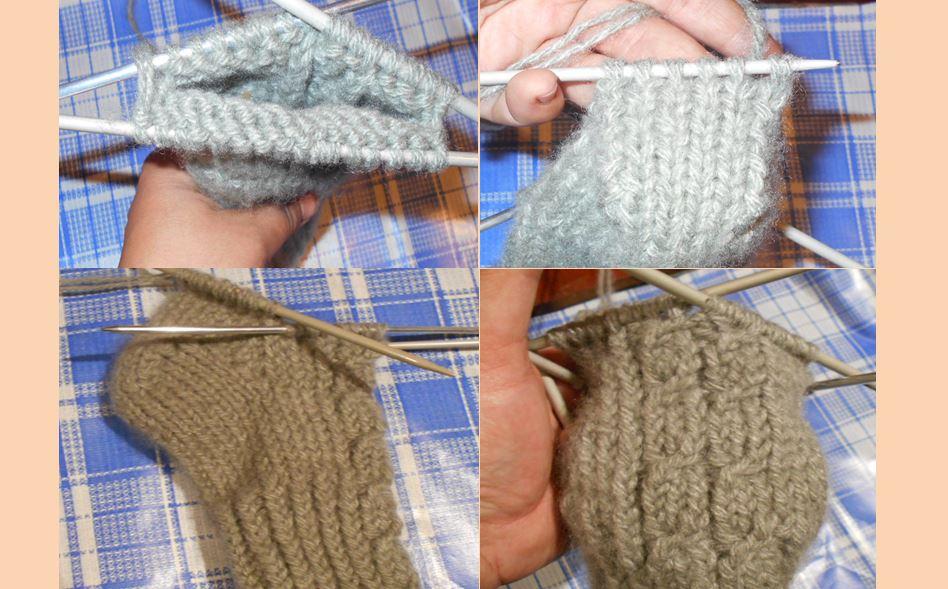 вяжем носки со жгутами