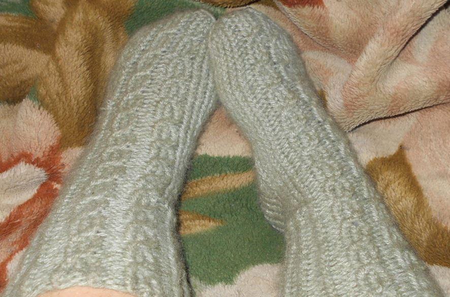 женские носки своими руками