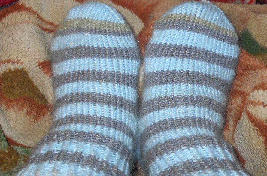 носки в полоску для детей и взрослых