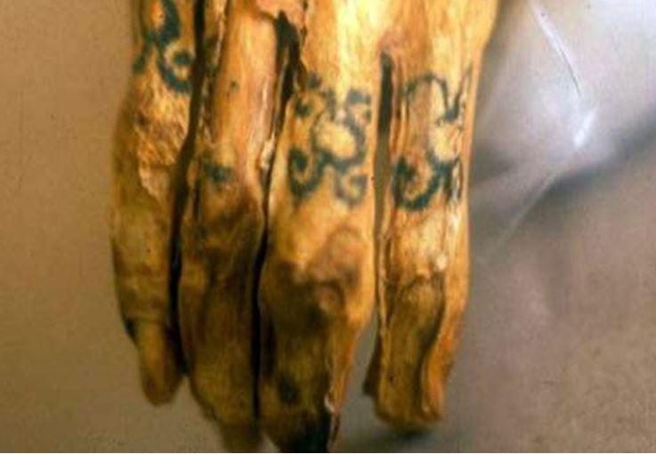 татуировки алтайской мумии