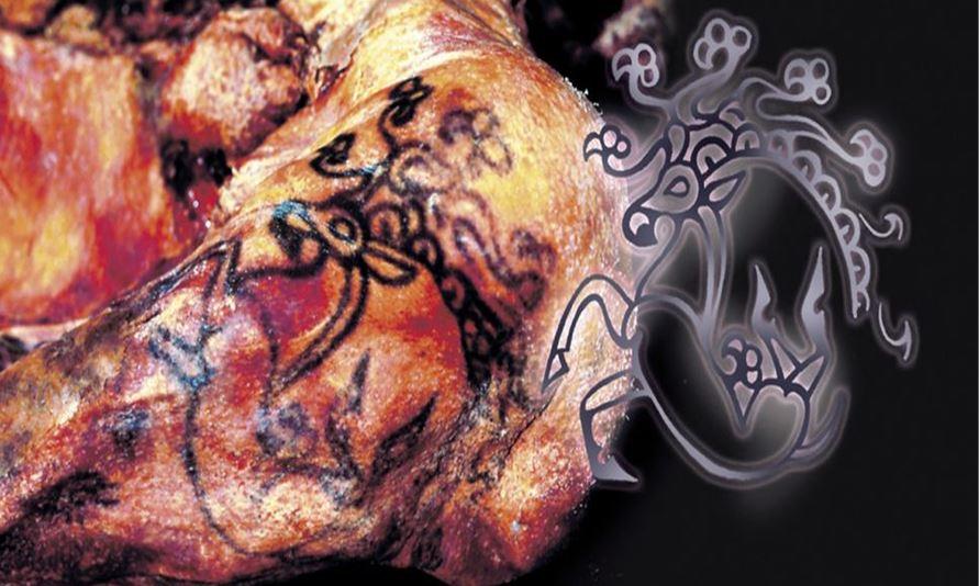 татуировка оленя с предплечья принцессы укок