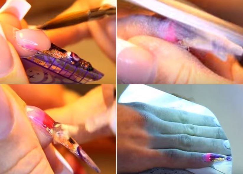 нарощеные акрилом ногти