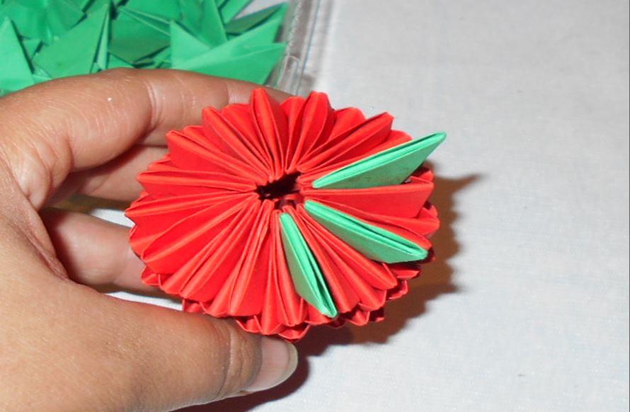 Модульное оригами как сделать убавление