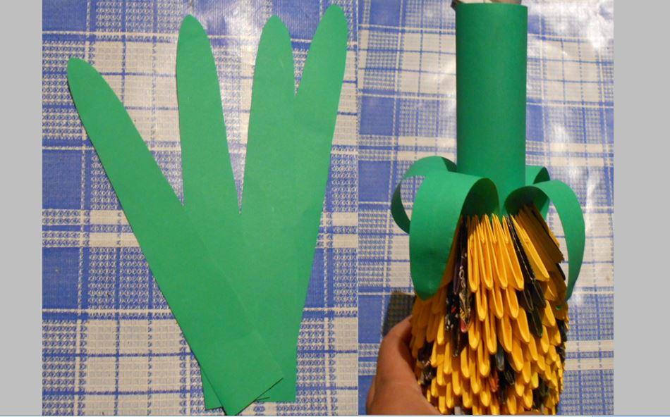 красивый ананас из бумаги