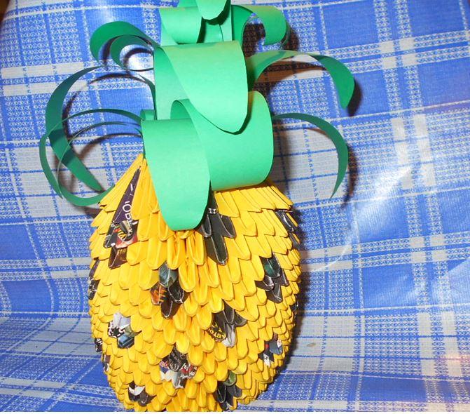 модульное оригами ананас