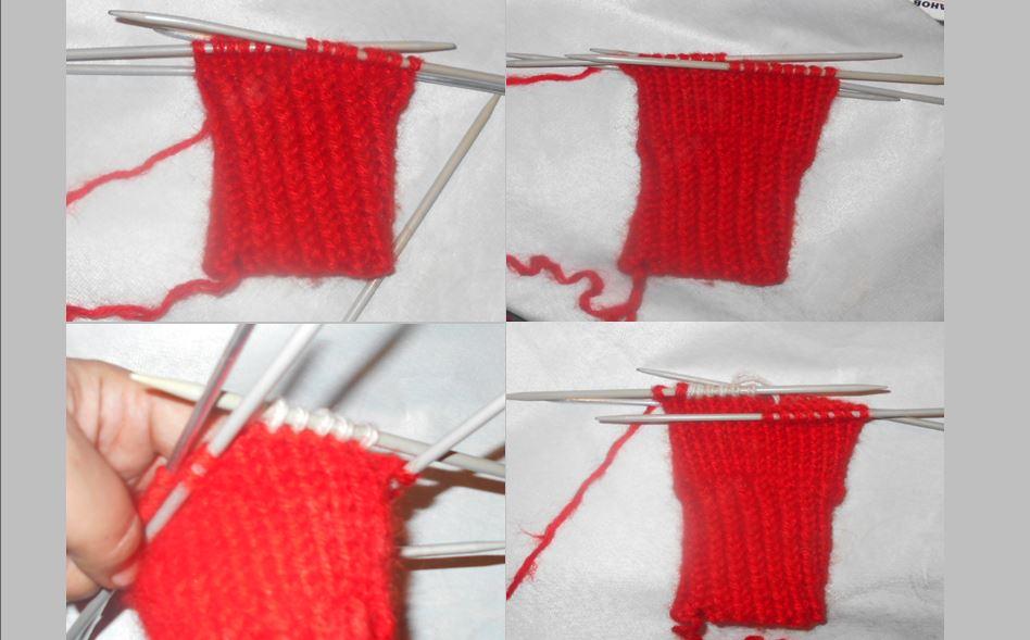 начало вязания рукавицы