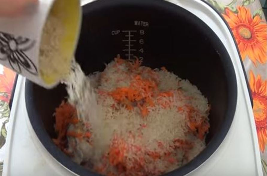 всыпаем рис