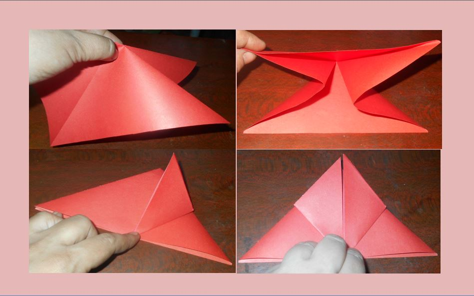 бумажный тюльпан второй этап