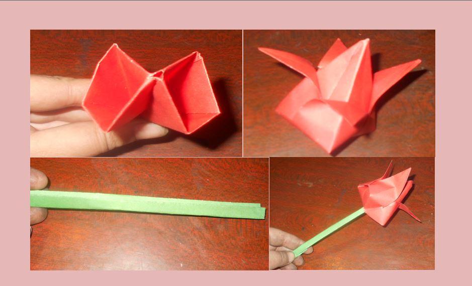 тюльпан классическое оригами
