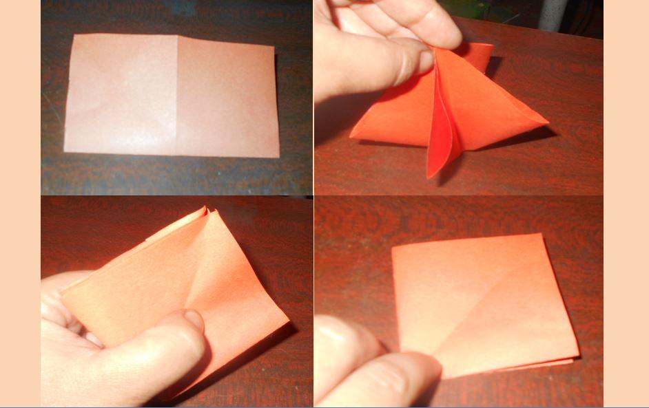 тюльпан из бумаги без серединки