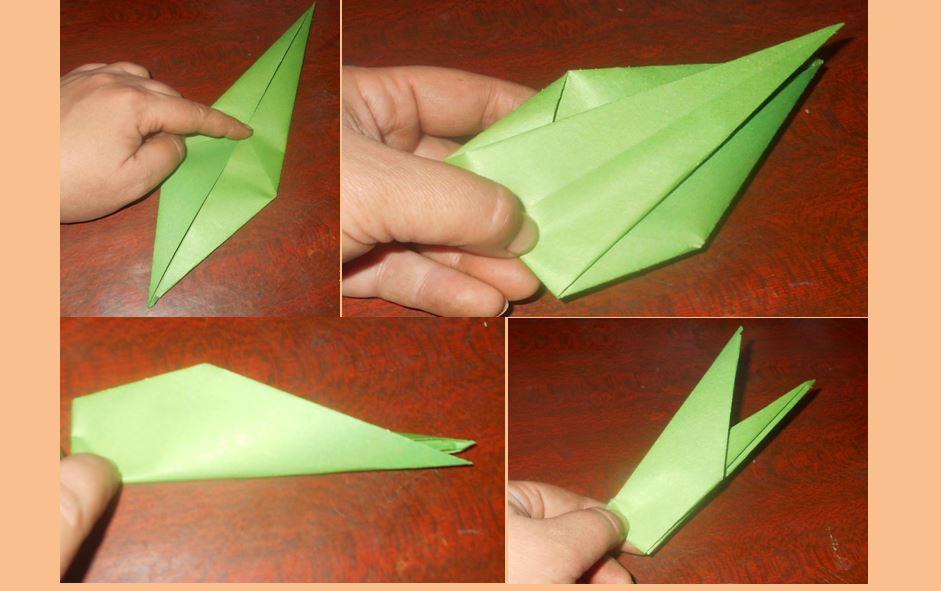оригами стебель для тюльпана