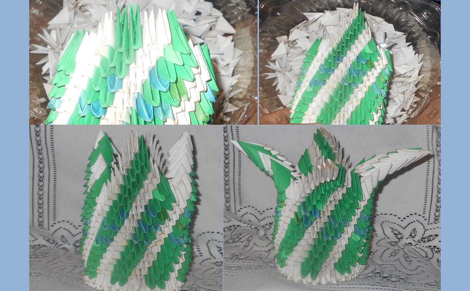 модульное оригами цветочная ваза