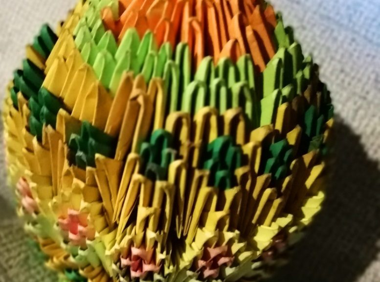модульное оригами пасхальное яйцо