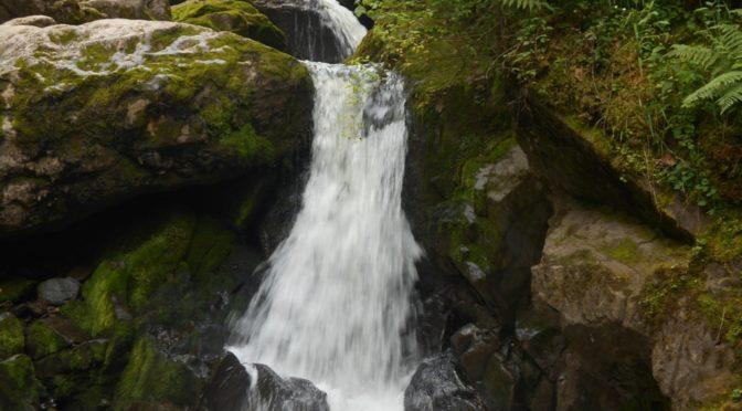 Водопад на третьей речке.