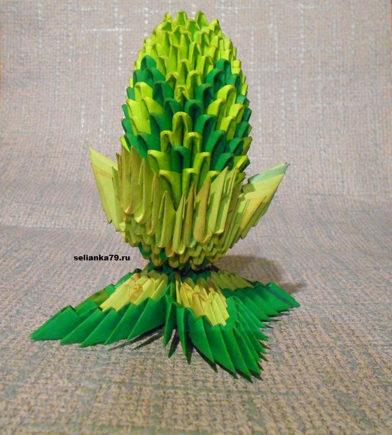 яйцо из модулей оригами