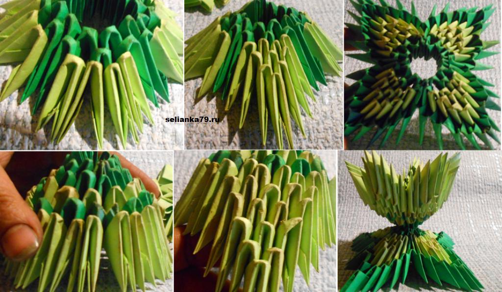 модульное оригами подставка под яйца
